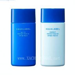 Kem chống nắng dưỡng ngày Shiseido Aqualabel xanh, đỏ, trắng
