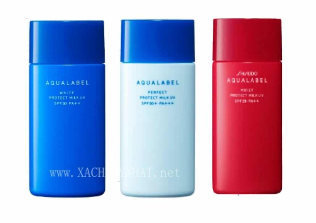 chong nang aqualabel shiseido noi dia