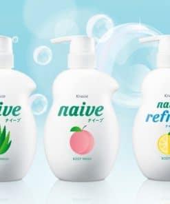 Sữa tắm Kracie Naive 530ml (Đào, Nha Đam, Chanh) 5