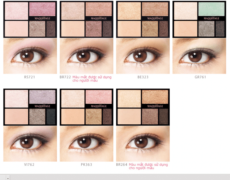 Phấn mắt Shiseido maquillage True Eye Shadow
