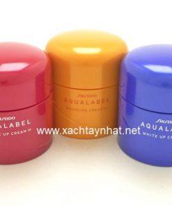 Kem dưỡng Shiseido Aqualabel 50gr màu xanh, đỏ, vàng Nhật Bản 7