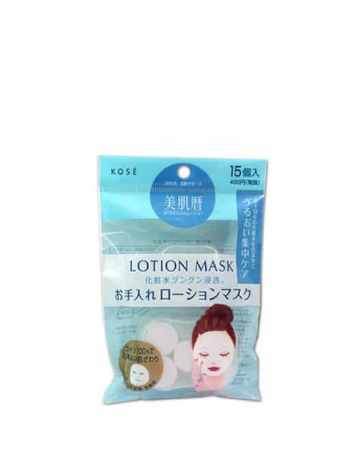 mặt nạ giấy nén Kose lotion mask dưỡng trắng da