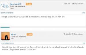 Review dầu gội Biotin Collagen tại Webtretho