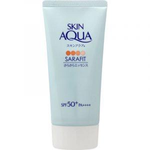 Kem chống nắng ROHTO Skin Aqua Sarafit Nhật Bản màu xanh