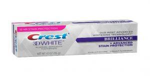 Kem đánh răng Crest 3D White Brilliance + Advanced Stain Protection 116g