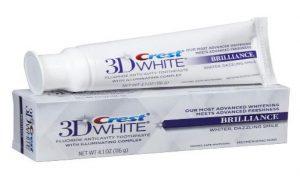 Kem đánh răng Crest 3D White Brilliance Whiter, Dazzling Smile 116g