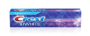Kem đánh răng Crest 3D White Radiant Mint 153g - 181g - 198g