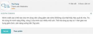 Thuốc giảm cân Rohto 5000mg review webtretho