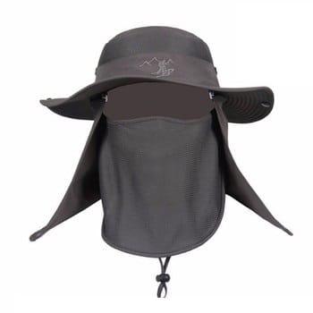 Mũ chống nắng tai bèo kèm bịt mặt nam
