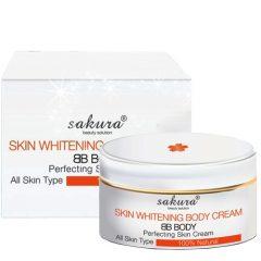 Kem trang điểm dưỡng trắng da Sakura BB Whitening Body Cream