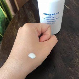 Kem chống nắng Muji sunscreen dạng vòi xịt 4