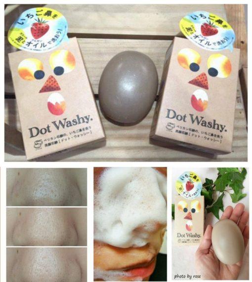 Xà phòng trị mụn đầu đen Dot Washy Facial Social Nhật Bản 7
