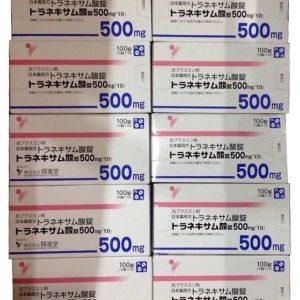 Viên uống trị nám trắng da transamin 250mg 500mg Nhật Bản