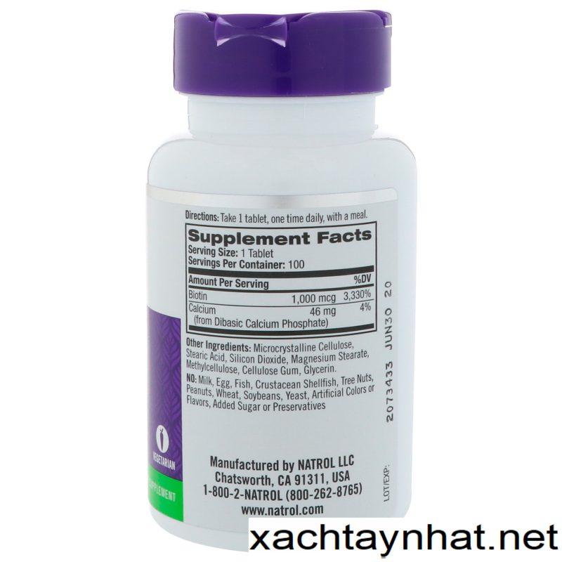 Huớng Dẫn Sử Dụng Thuốc Biotin Natrol 10.000mcg