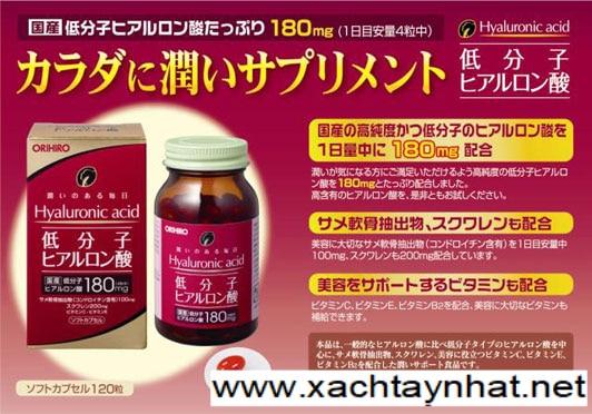 Viên uống bổ xung Hyaluronic Acid Orihiro Nhật Bản 1