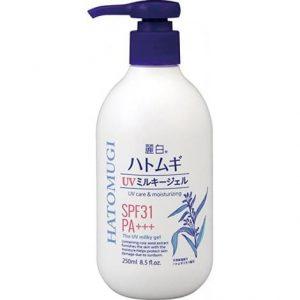 Sữa dưỡng thể dưỡng ngày chống nắng Hatomugi SPF31 PA+++ 1