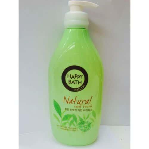Sữa tắm Happy Bath hương Trà Xanh - Natural Real Fresh (900ml) Hàn Quốc 2