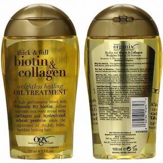 Dầu dưỡng tóc Biotin & collagen vàng 100ml 1