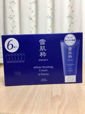 Sữa rửa mặt Kose trắng da Sekkisui White Washing Cream 2