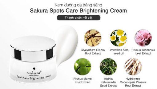 Kem Spots Care Brightening Cream Sakura 45g 5