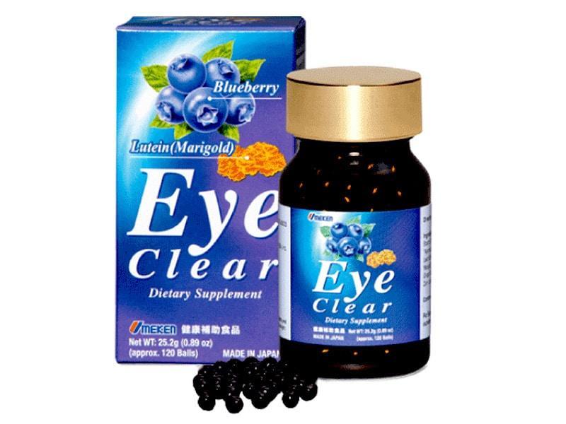 Thuốc bổ mắt eye clear Phòng ngừa và giảm các bệnh có liên quan về mắt như là khô mắt, rát mắt, giảm mỏi mắt