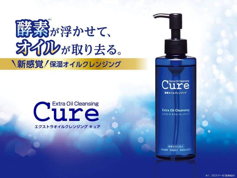 Cure Extra Oil Cleansing giúp lấy đi lớp trang điểm trên da, làm sạch da mặt từ sâu trong lỗ chân lông