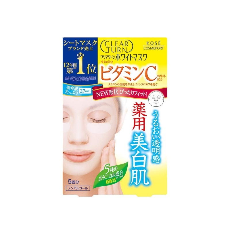 Mặt nạ Kose Clear Turn White Essence Mask