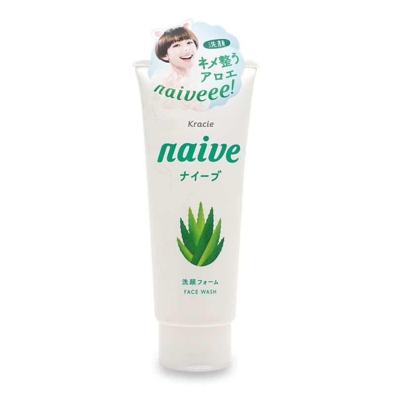 Sữa Rửa Mặt Kracie Naive Face Wash hương lô hội