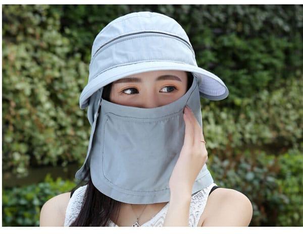 Nón chống nắng kèm khăn bịt mặt chống tia UV