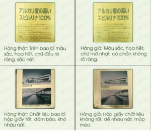 Hướng dẫn phân biệt tảo spirulina Nhật bản hàng thật và giả 6