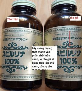 Hướng dẫn phân biệt tảo spirulina Nhật bản hàng thật và giả 5