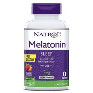 Viên ngậm ngủ ngon Natrol Melatonin Sleep 5mg 1