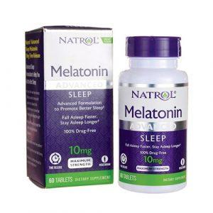 Viên ngậm ngủ ngon natrol melatonin sleep