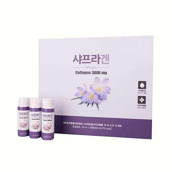 Về công dụng của sản phẩm nước uống nhụy hoa nghệ tây Saffron Collagen Hàn Quốc trong làm đẹp.