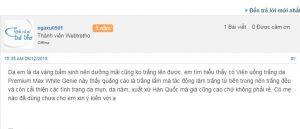 Review Premium Max White tại Webtretho