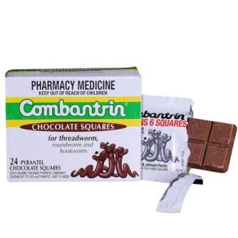 tẩy giun Combantrin Chocolate squares