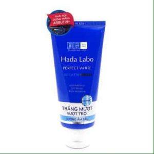 Sữa rửa mặt Hada Labo Perfect White màu xanh