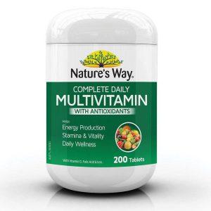 Viên uống Vitamin tổng hợp và tảo biển Natures Way Multivitamin Plus Spirulina 200 Viên Của Úc