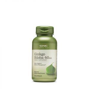 Viên uống bổ não Ginkgo Biloba 60mg GNC Herbal của Mỹ