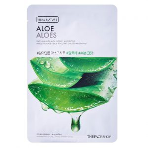 Mặt nạ nha đam trị mụn Real Nature Mask Aloe The Face Shop