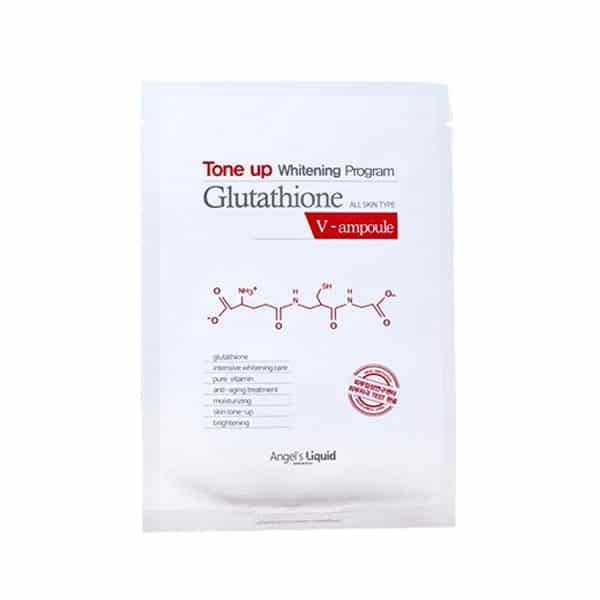 công dụng Tone up Whitening Program Glutathione Mask