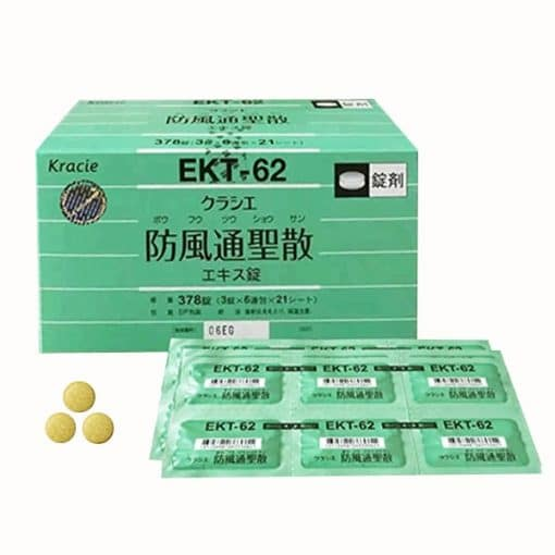 cách dùng Viên uống giảm cân Hofutsu Shousan Kracie EKT-62 Nhật Bản