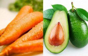 Mặt nạ dưỡng ẩm từ bơ và cà rốt