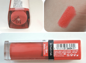 Son Bourjois Rouge Edition Velvet Peach Club màu 04