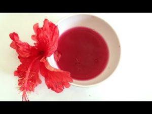 Cách làm son môi từ hoa dâm bụt