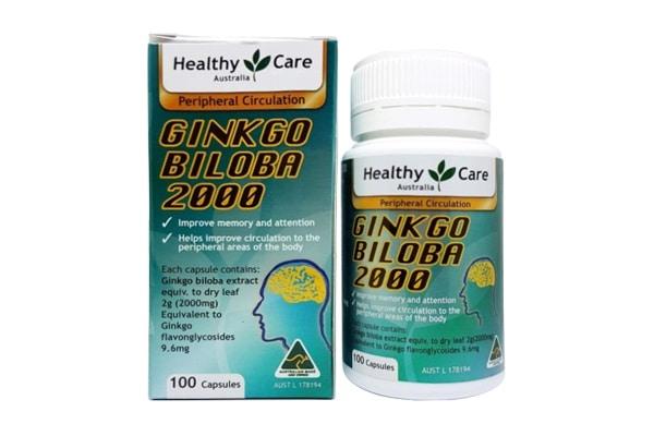 [REVIEW] Thuốc ginkgo biloba 2000 healthy care của ÚC có tốt không? 1