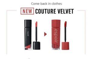 Son kem Espoir Couture Lip Fluid Velvet
