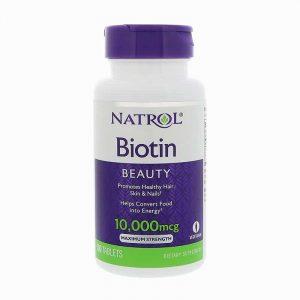 Thuốc mọc tóc, chống rụng tóc Natrol Biotin Mỹ 10.000mg