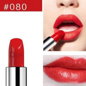 Son Dior Rouge màu 080 Red Smile – Intense Orangey Red đỏ cam san hô
