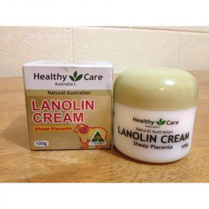 Kem face nhau thai cừu Lanolin Cream của hãng Healthy Care